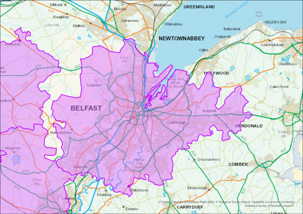 Restrictions covering postcodes in Belfast in September